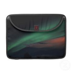 Northern Lights Starry Sky Macbook Pro Sleeve by Krista Funk