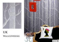 【Deco Inn】E181系列—Woods,英國期貨壁紙,自然風 經典北歐感樹枝森林 樹木,5色