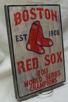 Boston Red Sox World Series Championship by Route66VintagesSigns, $28.00