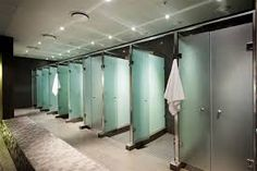 gym communal shower - Google Search Gym Showers, Shower Cubicles, Changing Room, Glass, Furniture, Commercial, Spaces, Park, Design