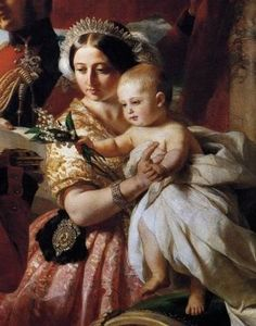 Detail of a painting of Queen Victoria presenting Arthur to the Duke of Wellington, who was one of Arthur's godparents.