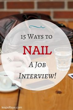 infographic Career infographic : 15 Ways to NAIL a Job Interview! Image Description Career infographic : 15 Ways to NAIL a Job Interview! Interview Answers, Interview Skills, Job Interview Questions, Job Interview Tips, Job Interviews, Assistant Principal Interview Questions, Behavioral Interview, Job Resume, Resume Tips
