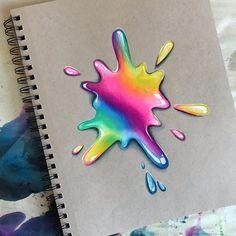 No photo description available. Cool Art Drawings, Pencil Art Drawings, Realistic Drawings, Colorful Drawings, Art Drawings Sketches, Colored Pencil Artwork, Color Pencil Art, Rainbow Drawing, Paper Drawing