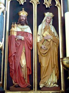 Santo Henrique e sua esposa Santa Cunegundes.