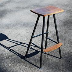 Modern industrial bar stool or kitchen by StaufferWoodWorking