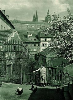 """Back to Bohemia - "" Prague in Spring, 1931 "" by Jan Posselt"" Old Pictures, Old Photos, Prague Czech Republic, Heart Of Europe, Beautiful Places, Beautiful Pictures, Central Europe, Places To Go, Scenery"