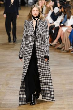 Gorgeous plaid coat! Chloe Fall Runway 2015 via HarpersBAZAAR.com
