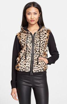 Diane von Furstenberg 'Elodie' Genuine Lamb Fur Jacket available at #Nordstrom