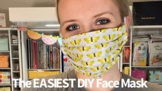 The Easiest DIY Fabric Face Mask Facemask face mask diy Sewing Hacks, Sewing Tutorials, Sewing Projects, Sewing Tips, Sewing Crafts, Easy Face Masks, Diy Face Mask, Best Homemade Face Mask, Best Face Mask