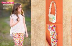 Fusions Lookbook by Art Gallery Fabrics. Pants made by Because of Brenna; Blaycie Skinny Pants PDF by Create Kids Couture #artgalleryfabrics #becauseofbrenna
