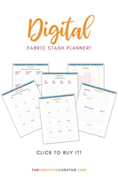 This is a great way to keep track of your fabric stash! This planner will help you with your fabric stash management, but it will also help you plan sewing projects throughout the year too! I use mine to keep track of the fabrics in my stash, my sewing patterns, sewing and pattern drafting books as well as my sewing plans for ecah project! Grab yours now from The Creative Curator - it's digital and printable planner format, so both ways is a win! Pattern Making Books, Room Planner, 2021 Calendar, Pattern Drafting, Love Sewing, Printable Planner, Dressmaking, Sewing Projects, Sewing Patterns