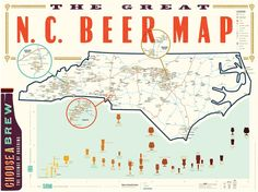 The same double-sided map as we offer for the road, but unfolded for  hanging and on heavier paper. We designed the map knowing that many of you  would want to exhibit it on your wall as a piece of NC beer memorabilia.  When displayed, you'll see the state of NC with its 200+ breweries and beer  festivals broken down by symbol, along with Asheville, Charlotte, and  Raleigh brewery crawls; map legend; and beer style chart. To track your  travels, add on a set of map pins or stickers to mark…