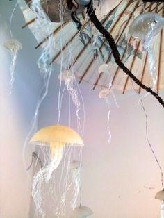 Jellyfish Hanging Lights With Rainbow Fading LEDs by ellipsisfish