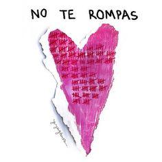 No te rompas. Illustration by Yeyei Gómez
