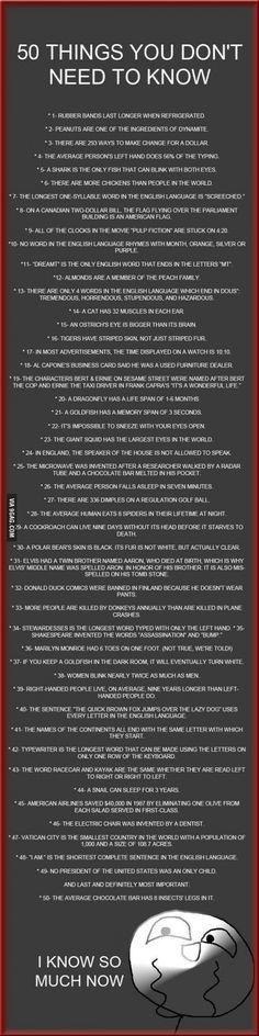 I really hope the last one isn't true!!!