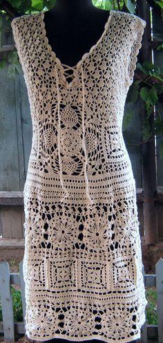 Handmade lace crochet dress beautiful