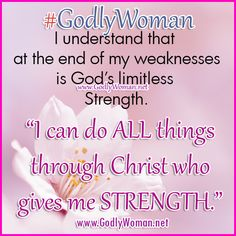 A Godly Woman is strong because of her faith in God. ♥ ♥ ♥ Read More Godly Woman Inspiration >>> http://godlywoman.net/inspiration/