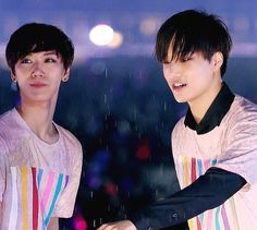 EXO Kai and SMRookie Ten #EXO #SMROOKIES This is a cute picture of these two
