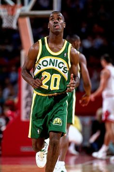 """Seattle Sonics: Gary Payton """"The Glove"""" - My all time favorite basketball player.  I named my Austrailian Shepherd after him, """"Payton."""""""