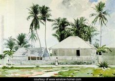 Cabins, Nassau   Winslow Homer