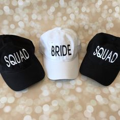 Perfect Unstructured Perfect Unstructured Hats for the Bachelorette Wedding Gifts For Bridesmaids, Personalized Bridesmaid Gifts, Bridesmaid Proposal, Present For Groom, Casual Wedding Attire, Monogram Hats, Vegas Bachelorette, Perfect Gift For Her, Bridezilla