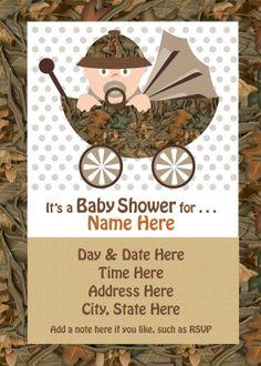 Pink Camo Baby Shower Invitations was beautiful invitation layout