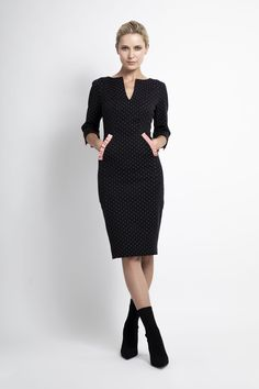 Caroline Kilkenny, Fall Winter, Autumn, Peplum Dress, Polka Dots, Dresses, Fashion, Vestidos, Moda