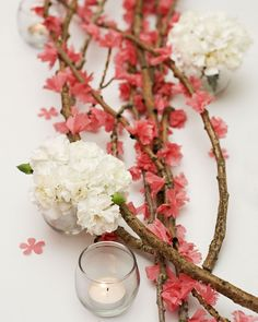 A Well Crafted Party: {DIY} Cherry Blossom Branches