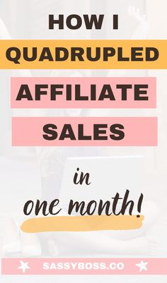 Increase affiliate sales - Three things I did to increase my affiliate sales by 481% in one month. Best affiliate marketing tips for bloggers to help you make money with your blog through passive income! #affiliatemarketing #howtomakemoneyblogging #makemoneybloggingfast #makemoneybloggingforbeginners Make Money Fast, Make Money Blogging, Money Tips, Money Saving Tips, Make Money Online, Earn Money, Online Income, Online Jobs, How To Find Out