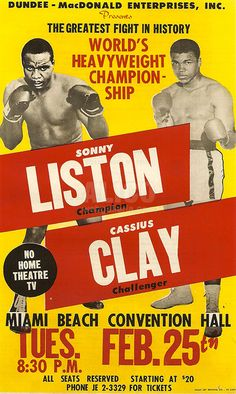 Risultati immagini per vintage poster box fight Mad Men, Boxing Posters, Sports Posters, Theatre Posters, Grudge Match, Professional Boxing, Boxing History, Sting Like A Bee, Float Like A Butterfly