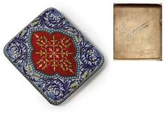 A Silver-Gilt, Cloisonné and Guilloché Enamel Cigarette Case MARKED GRACHEV WITH THE IMPERIAL WARRANT, CYRILLIC MAKER'S MARK 'EP', ST PETERSBURG, 1904-1908