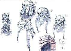 Concepts for the Nautolan Jedi Master, Kit Fisto.