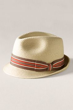 Men's Toyo Straw Fedora from Lands' End Canvas