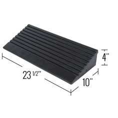 Rubber modular curb ramp dimensions