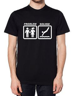 Diving #problem #solved t shirt #funny present tee men women swimming pool board,  View more on the LINK: http://www.zeppy.io/product/gb/2/301875608912/