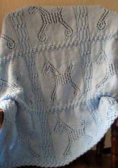 Free Knitting Pattern for Hobby Horse Baby Blanket