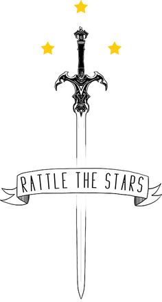 "Second design ""Rattle the stars"" Glass Throne inspired by Sarah J. Maas • Also buy this artwork on stickers, apparel, phone cases, and more."