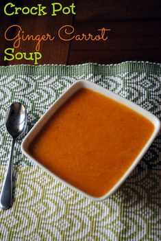 Crock Pot Carrot Ginger Soup
