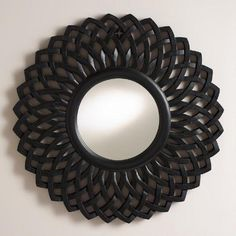 One of my favorite discoveries at WorldMarket.com: Black Round Woven Charu Mirror