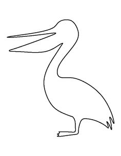 Pelican pattern. Use the printable outline for crafts, creating stencils, scrapbooking, and more. Free PDF template to download and print at http://patternuniverse.com/download/pelican-pattern/