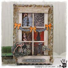 Tammy Tutterow Tim Holtz Idea-ology Sizzix Spooky Window