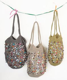 Rakuten: Sophie digard ソフィーディガー France hook crochet bag POMPOMPIDOU- Shopping Japanese products from Japan Crochet Handbags, Crochet Purses, Crochet Bags, Diy Sac, Boho Bags, New Bag, Knitted Bags, Beautiful Crochet, Diy Crochet