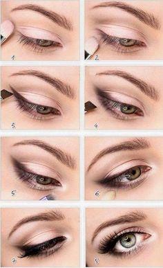 Pasos para crear un diseño de maquillaje de ojos super simple y lindo a la vez.