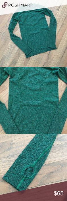 Lululemon run swiftly long sleeve top No wear or wash visible. Paper tag gone but size printed is 6. Looks smaller. Thumb holes. lululemon athletica Tops Tees - Long Sleeve