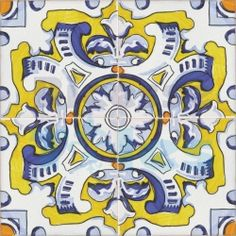 Spanish traditional painted tiles |