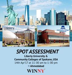 Spot Assessment Study in USA - Liberty University in Ahmedabad #StudyinUSA | #StudentVisa #WinnyEducation