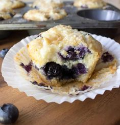 Blueberry Cream Cheese Muffins - going to try to these with chocolate chips instead also. The blueberry muffin was amazing! Blueberry Cream Cheese Muffins, Blueberry Breakfast, Breakfast Cake, Blue Berry Muffins, Blueberry Cake, Blueberry Rhubarb, Breakfast Recipes, Breakfast Bites, Blackberry