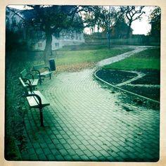 The park in autumn, Slite, Gotland, Sweden. Hipstamatic.