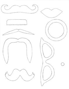 diy photo props best mustache template ideas