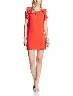 UK 12, Orange - Orange (Coral), Molly Bracken Women's P276e16 Sleeveless Dress N